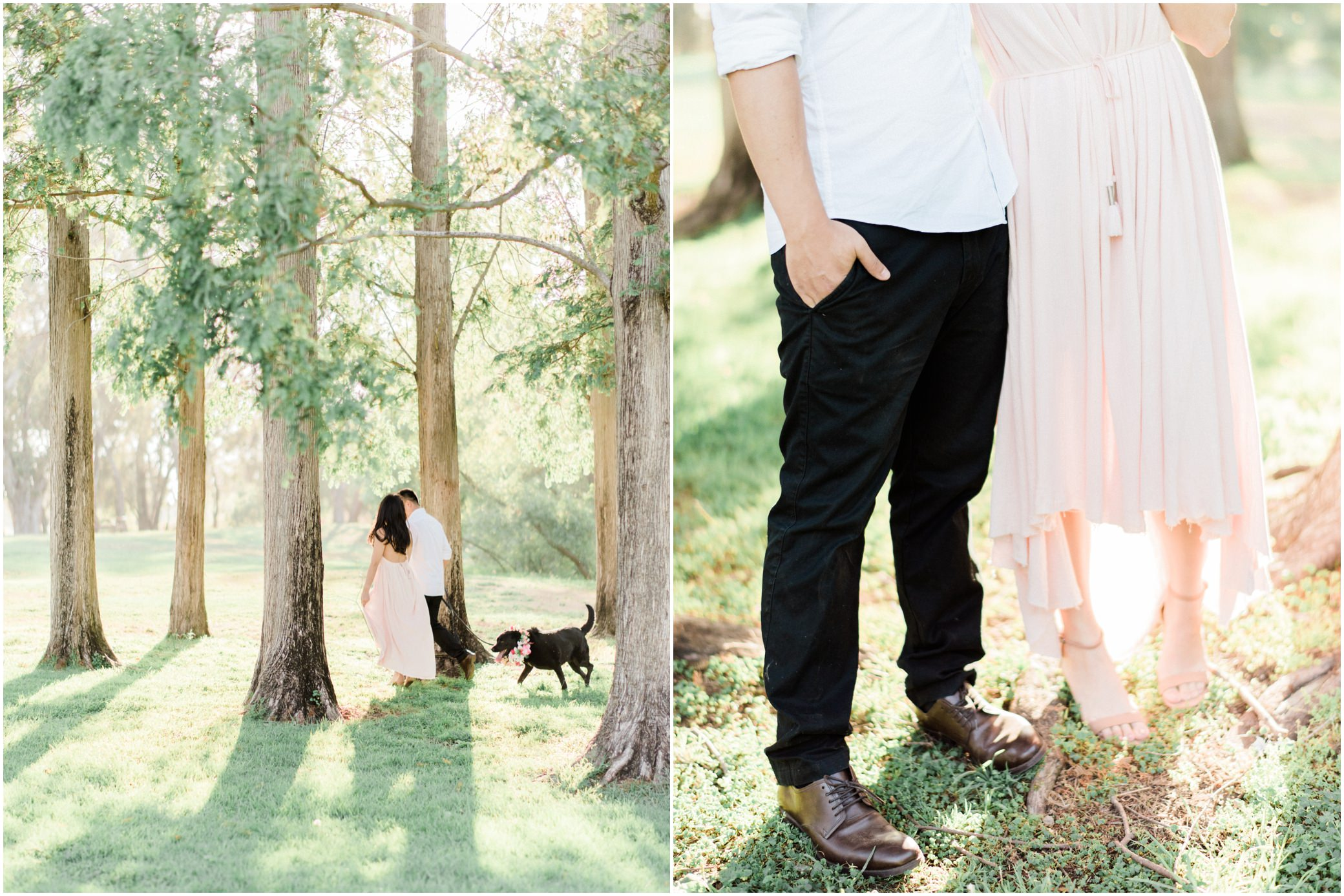 orange county engagement session with dog