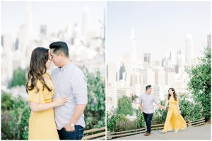 san francisco skyline engagement photos