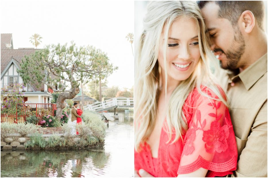 venice canal engagement session