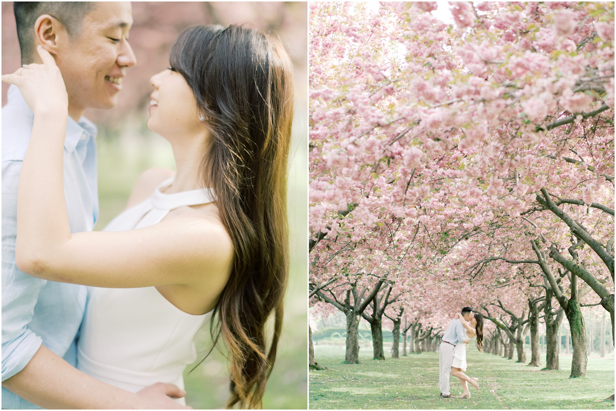 brooklyn botanical garden engagement