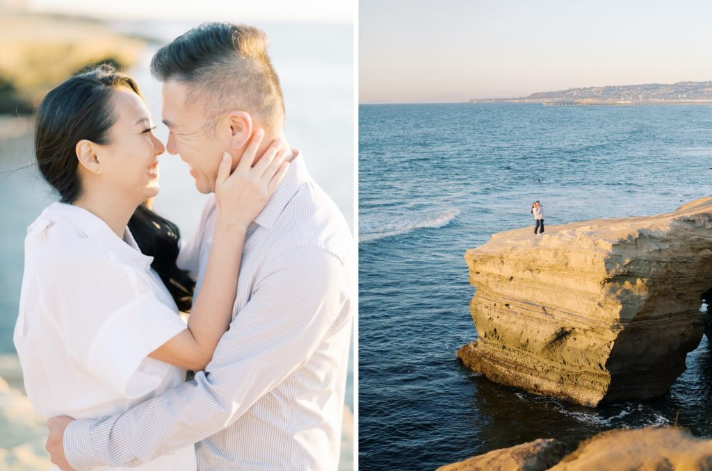 balboa park and sunset cliffs engagement photos