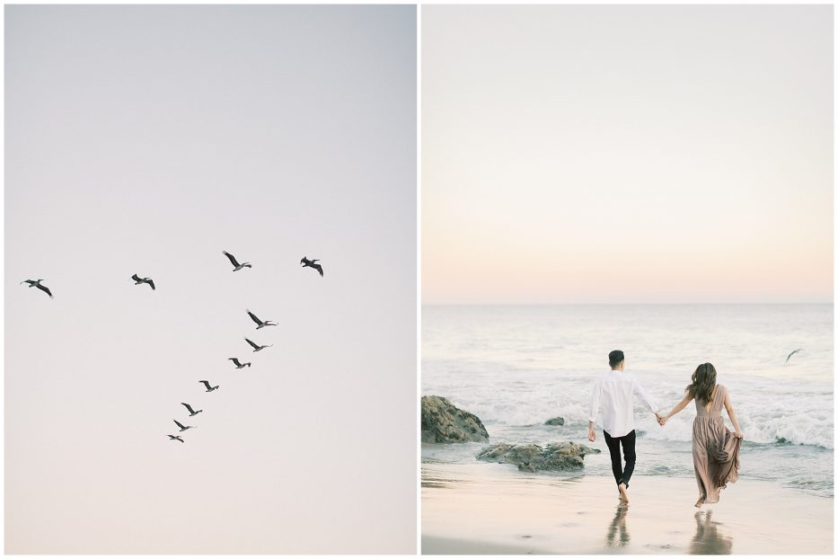 el matador beach malibu engagement