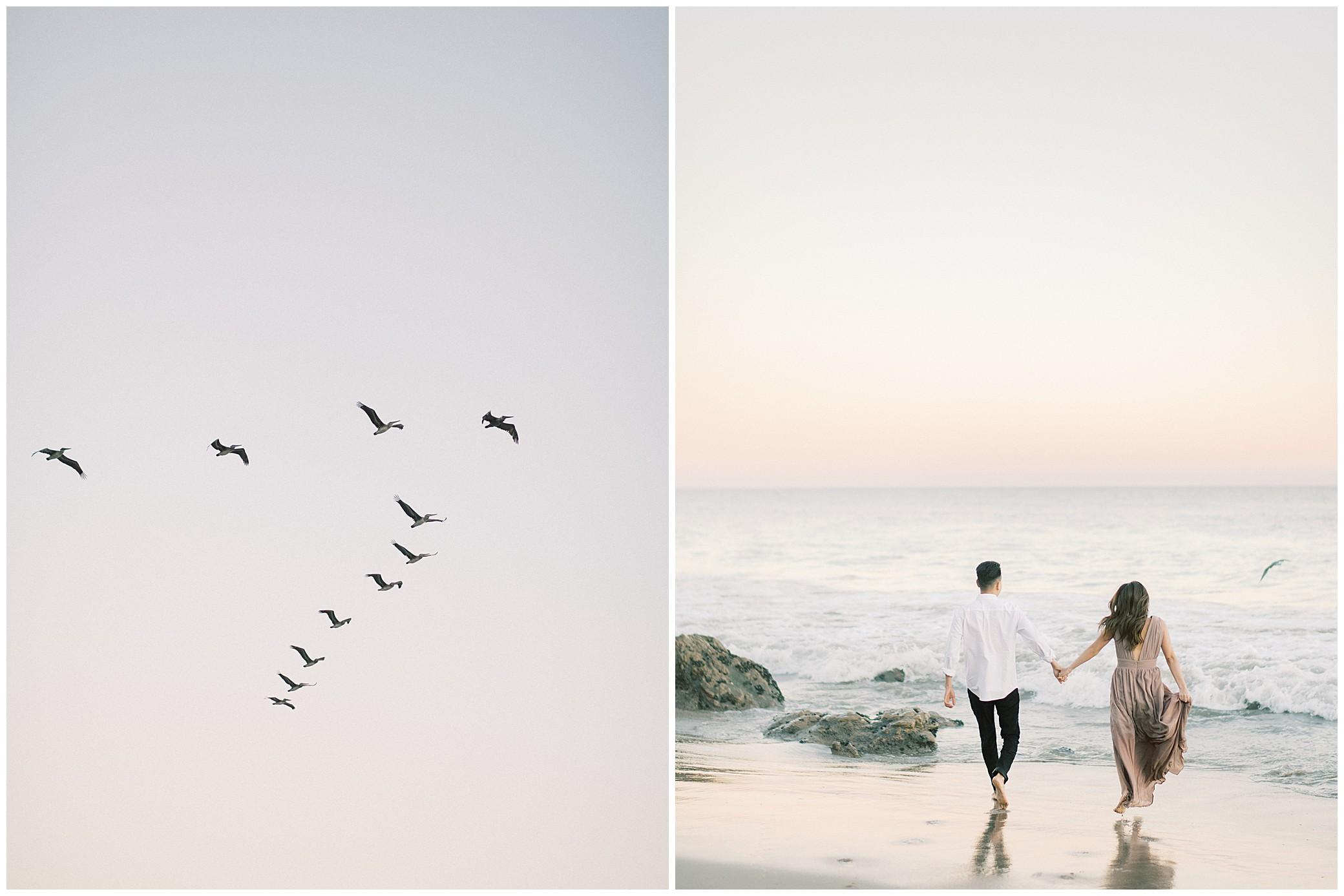 el matador beach malibu engagement